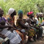 Women during focus group discussion with the WISE-UP to Climate research team in the Bisigu village, in West Mamprusi, Northern region, Ghana