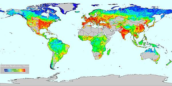 Biodiversity Threat (Vörösmarty et al 2010)