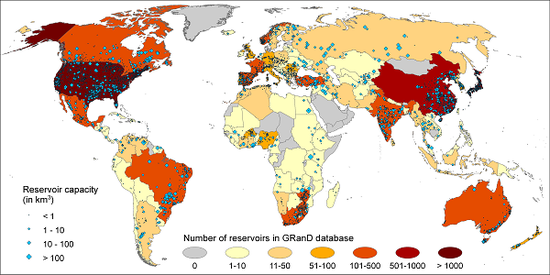 GWSP GRanD Database Map