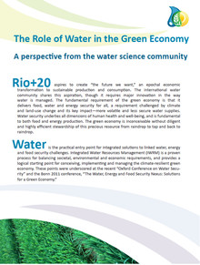 The Role of Water in the Green Economy