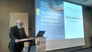 Prof. Janos Bogardi at the book launch event